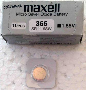 Элемент питания MAXELL SR1116SW (366) BL-1