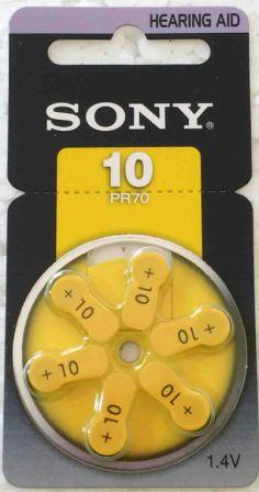 Элемент питания SONY PR10  BL- 6/60