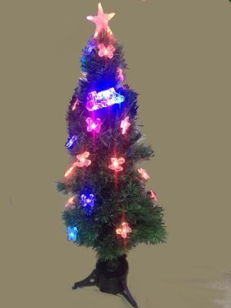 Ель 210 см с подсветкой и снежинки и бантики 5-13