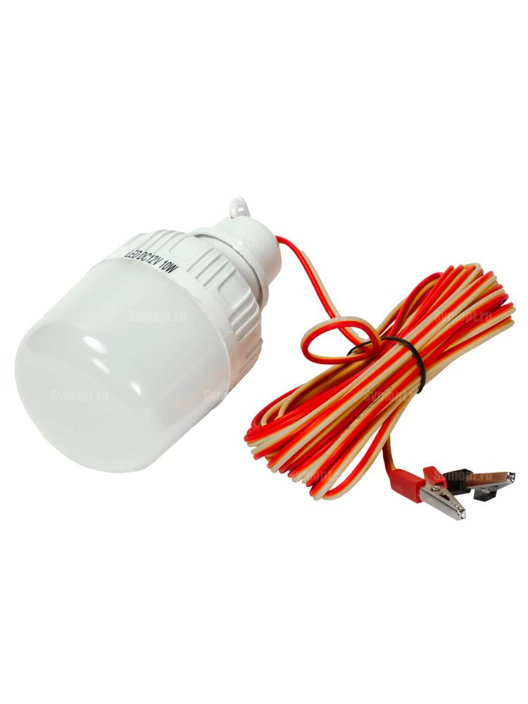 Переноска 7015 LED 15Ватт, 12V Крокодилы, длина провода 5 метров