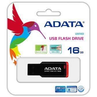 Флеш накопитель 16GB A-DATA UV140, USB 3.0 Черный/красный