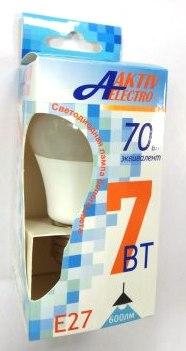 Лампа AktivElektro LED A60  7Вт Е27 4000К /100