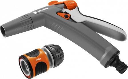 18341-32.000.00  GARDENA Комплект: Пистолет-наконечник для полива Classic + Коннектор стандартный 1