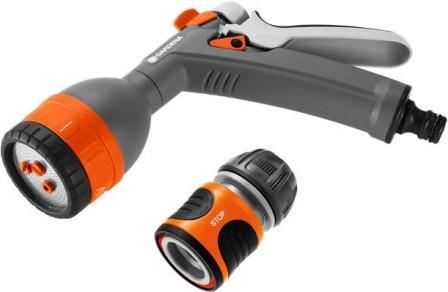 18343-32.000.00  GARDENA Комплект: Пистолет для полива многофункциональный Classic + Коннектор стан