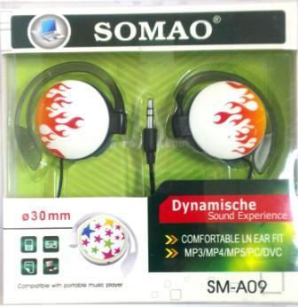 Наушники SOMAO sm-a09 клипсы fire