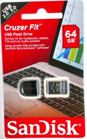 USB флэш-диск SanDisk 64GB CZ33 Cruzer Fit