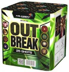 "Батарея салютов ""OUT BREAK""  25 залпов * 1.2""  1/4"