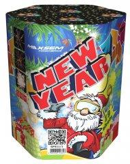 """Батарея салютов """"NEW YEAR""""  19 залпов * 1.2""""  1/8"""