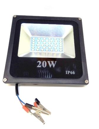 """Переноска """"Прожектор"""", LED 20Ватт,12V, Крокодилы"""