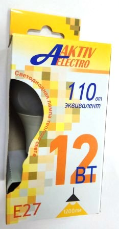 Лампа AktivElektro LED A60 12Вт Е27 3000К /100