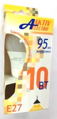 Лампа AktivElektro LED A60 10Вт Е27 3000К /100