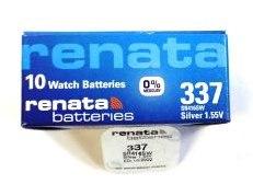 Элемент питания Renata 337 (SR416SW)0%Hg BL-1/10