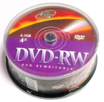 Диск VS DVD-RW 4,7 GB 4x CB/25