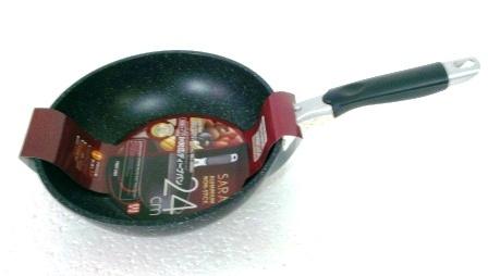 Сковорода мрамор d 2402 Wok Pan