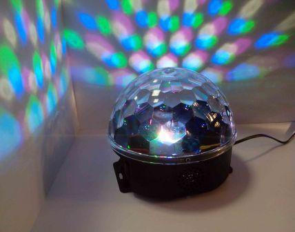 Шар светомузыкальный (6 LED) MP3