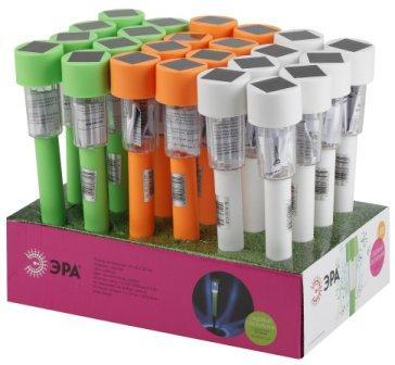 SL-PL30-CLR  ЭРА Садовый светильник на солнечной батарее, пластик, цветной, 32 см