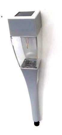 SL-SS38-GLOW-2  ЭРА Садовый светильник на солнечной батарее, сталь, пластик, серый, 38 см