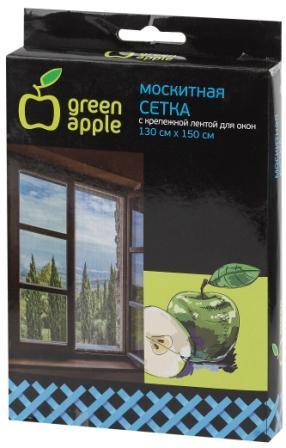 GBN001  GREEN APPLE Москитная сетка для окон 130*150см (сетка + крепежная лента)