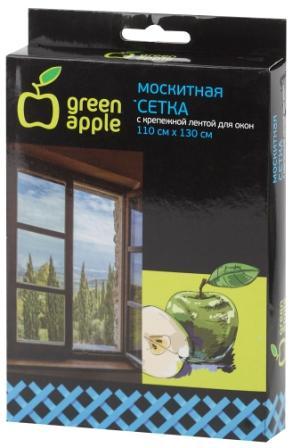 GBN002  GREEN APPLE Москитная сетка для окон 110*130см (сетка + крепежная лента)