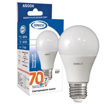 Лампа светодиодная IONICH A55 7Вт 6500К E27