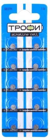 Элемент питания  ТРОФИ  G0 к-т10 (379/LR521/LR63) (10)