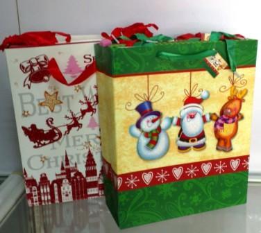 Пакет для подарков Новогодний средний