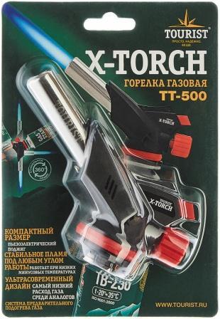 """Горелка газовая X-TORCH (TT-500) с пьезоподжигом и системой подогрева газа, """"Tourist"""", 1/5"""