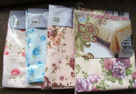 Скатерть для стола, шелк, цветы 140х230 4-7-7