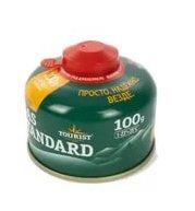 Газ. баллон GAS STANDART (ТВR-100) для портативных приборов - резьбовой, Tourist  1/24