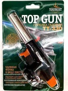 """Горелка газовая TOP GUN (TT-330) с пьезоподжигом, """"Tourist"""", 1/5"""