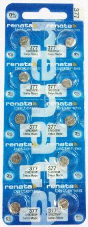 Элемент питания Renata 377 (SR626SW)0%Hg BL-10/100