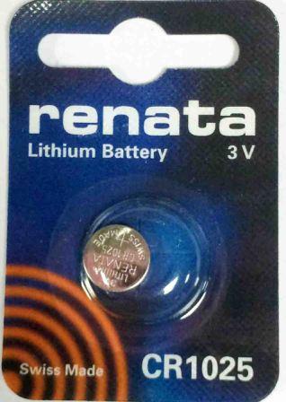Элемент питания Renata 1025 1BL (10/100)