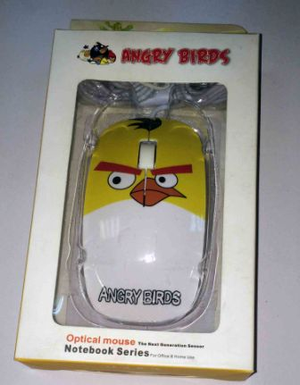 Мышь Angry Birds mini FC-5086 YW, USB, 1000dpi