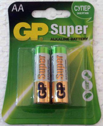 Элемент питания GP LR 6 15A Super Alkal к-т 2шт 1/10