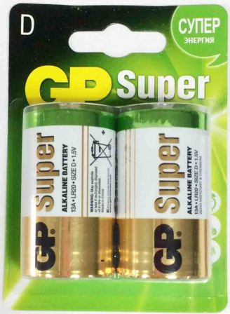 Элемент питания GP LR20 13A Super Alkaline к-т 2шт 1/10