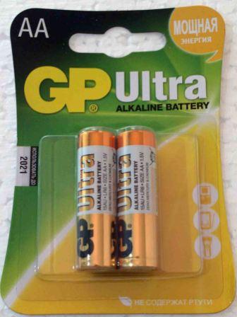 Элемент питания GP LR 6 15AU Ultra к-т 2шт 1/10