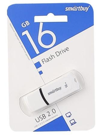 Флеш-накопитель USB  16GB  Smart Buy  Paean  белый