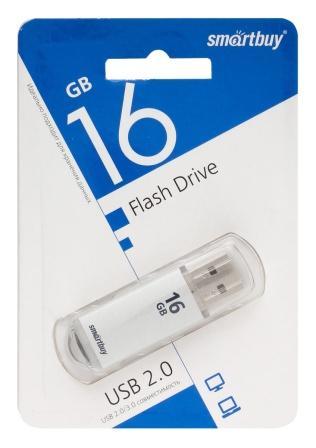 Флеш-накопитель USB  16GB  Smart Buy  V-Cut  серебро