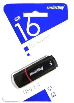 Флеш-накопитель USB  16GB  Smart Buy  Crown  чёрный
