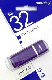Флеш-накопитель USB  32GB  Smart Buy  Quatz фиолетовый