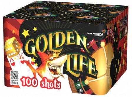 """Батарея салютов """"GOLDEN LIFE"""" 100 залпов * 1.2""""  1/1"""