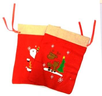 """Мешок для подарков """"Вышивка"""" , сукно"""