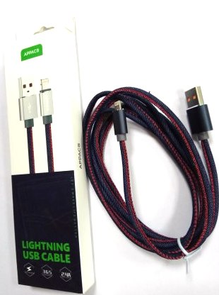 Кабель APPACS AP03183i, lightning (for iPhone), 5V/2.4A, 1 метр