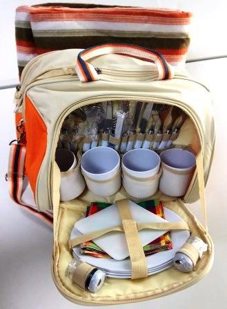 Походный набор посуды - сумка на 4 персоны SV-TU-02