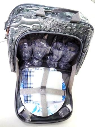 Походный набор посуды - сумка на 4 персоны SV-TU-04