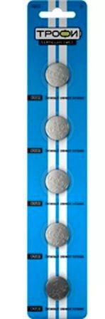 Элемент питания   ТРОФИ CR2032 к-т 5шт