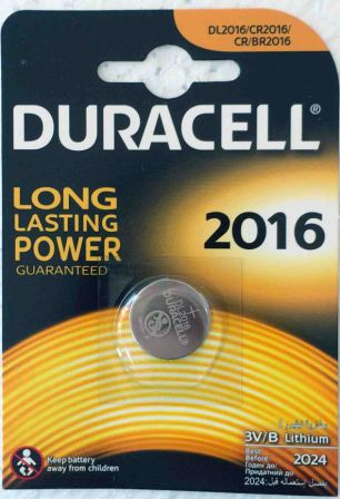 Эл.питания Duracell DL 2016 display/10