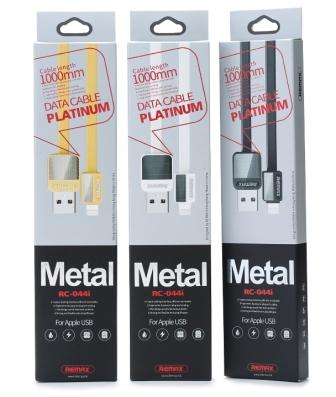 Кабель ReMax Metal iPhone5/6 RC-044i 1м