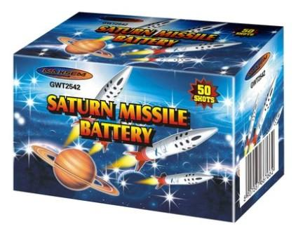 "Батарея салютов ""Saturn Missle Battery"" K2542  50 залпов   1/60"