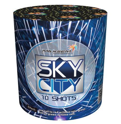 "Батарея салютов ""SKY CITY""  10 залпов * 0.8""  1/30"